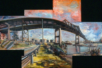 Large Bridge in Sections