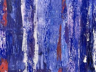 """My Inner Blue Acrylic on Canvas 19.5"""" x 59"""""""