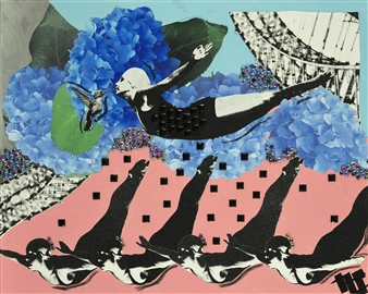 The Divers 2  (Pink)