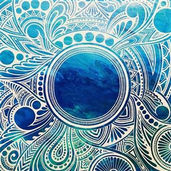 """Zen Acrylic on Canvas 12"""" x 12"""""""