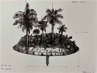 "Portable Island Pen on Paper 12"" x 15"""