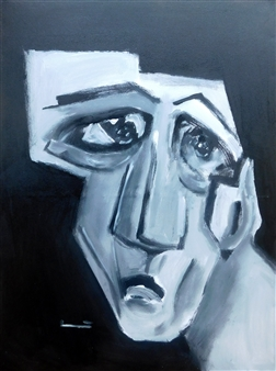 "Untitled 3 Acrylic on Canvas 31.5"" x 23.5"""