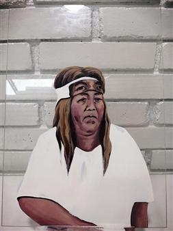 """5 Oil & Acrylic on Canvas 0"""" x 0"""""""