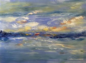 """River Rock Respite Oil on Canvas 30"""" x 40"""""""