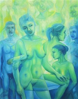 "Figuras Oil on Canvas 20"" x 16"""