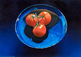 Tomatoes in Blue
