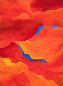 """Mirage Acrylic on Canvas 24"""" x 18"""" <span style='color:red;'>Sold</span>"""