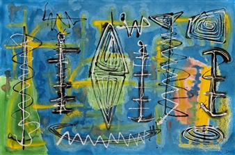 "Turquoise Diamonds Acrylic on Canvas 20"" x 30"""