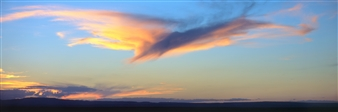 """Belen West Mesa Bird Cloud Archival Pigment Print 38.6"""" x 108"""""""