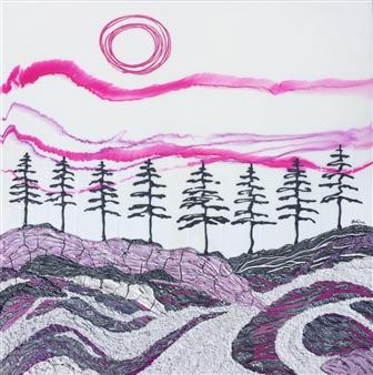 "Ice. Wind. Sky. Acrylic on Birch 30"" x 30"""