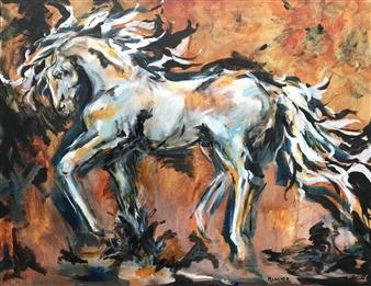 """Foxfire Acrylic on Canvas 24"""" x 30"""""""