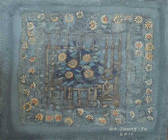 "Wildflower Soil on Canvas 24"" x 28.5"""
