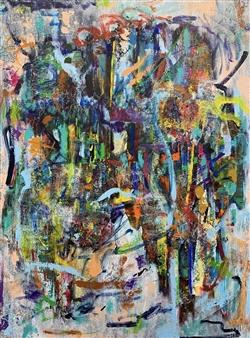 """Struggle Mixed Media on Canvas 48"""" x 36"""""""