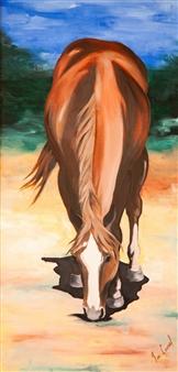 """Untitled #4 Oil on Wood 48"""" x 24"""""""
