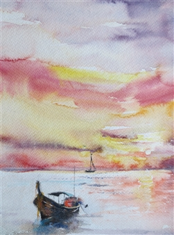 """A Silence Watercolor on Paper 21.5"""" x 17.5"""""""