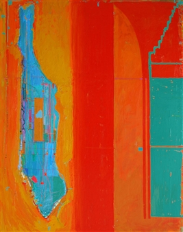"""City of Glass 2 –  (Hotel Harmony) Oil on Canvas 59.5"""" x 47.5"""""""