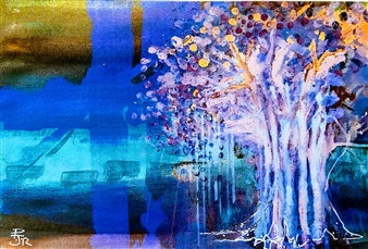 """FOREST KINGS: Ghost Tree Giclee Print on Paper 16"""" x 20"""""""