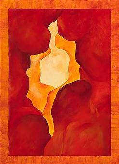 "Sandstone Cave Acrylic on Canvas 30"" x 22"""