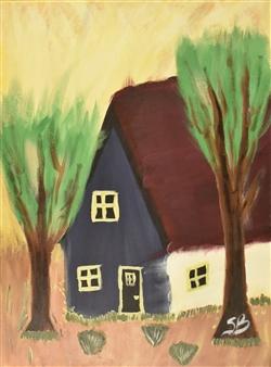 "Mi Choza Acrylic on Canvas 24"" x 18"""