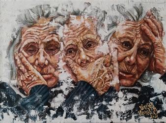 "Incertezza Estresa Oil on Canvas 12"" x 15.5"""
