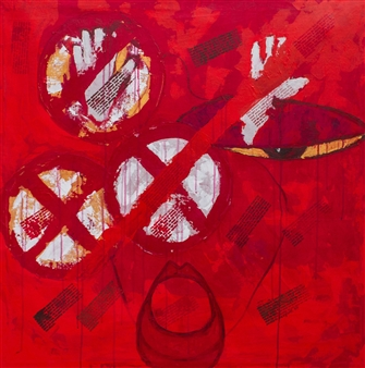 "Stop 1 Acrylic on Canvas 36"" x 36"""