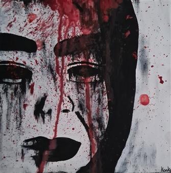 "Yasuke Acrylic on Canvas 8"" x 8"""
