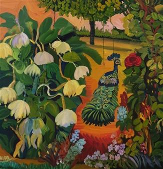 """In My Garden Oil on Canvas 12.5"""" x 12.5"""""""