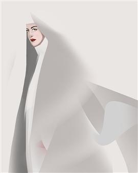 "The Nun Digital Painting on Canvas 40"" x 32"""