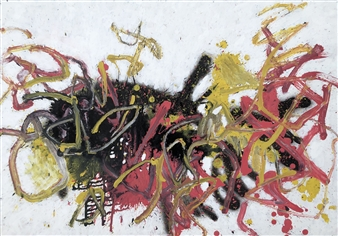 "Mon 3 Acrylic & Oil on Fiber Board 23.5"" x 37.5"""