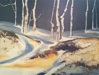 "Spring Thaw 1 Acrylic on Canvas 30"" x 40"""