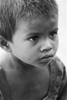"Innocent Poverty Photograph on Fine Art Paper 35"" x 25"""