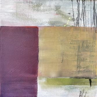 "Untitled 7 Acrylic & Mixed Media on Canvas 15.5"" x 15.5"""
