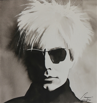 """Andy Warhol Watercolor & Ink on Paper 13"""" x 12"""""""