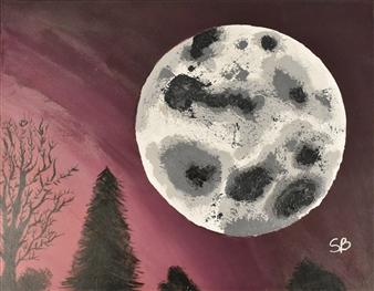 "Luna Grande Acrylic on Canvas 22"" x 28"""