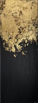 "Golden Stillness 2 Acrylic on Canvas 39.5"" x 12"""