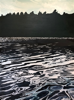 """Summer: Black Water at Mohonk Acrylic on Canvas 40"""" x 30"""""""