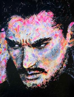 """Suspicious Acrylic on Canvas 45.5"""" x 35"""""""