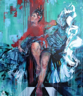 """Her Majesty 2 Oil on Canvas 59"""" x 51"""""""