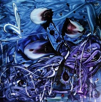 """Lilith Oil & Resin on Plexiglass 41"""" x 41"""" x 1.5"""""""