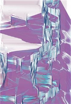 "Quakes 91 D, 1/6 Fine Art Digital Print 54"" x 38"""