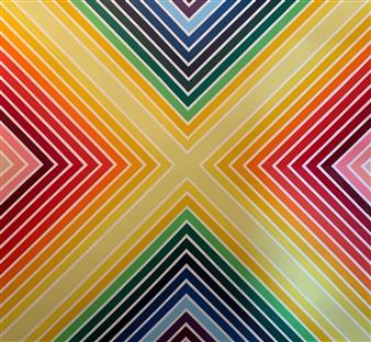 "Prismatic Acrylic on Canvas 72"" x 72"""