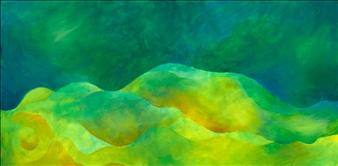 """Ocean Floor Acrylic on Canvas 18"""" x 36"""""""