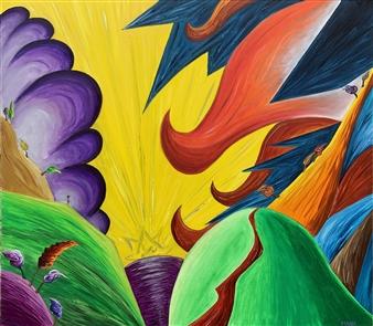 "Salto Oil on Canvas 27.5"" x 35.5"""