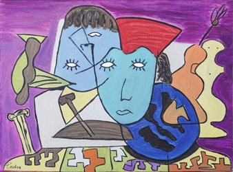 """Sexes and Culture Oil on Canvas 23.5"""" x 31.5"""""""