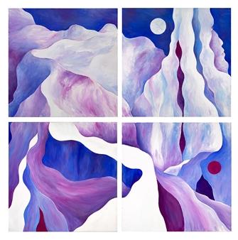 "Cappadocia 9-12 Acrylic on Canvas 50"" x 50"""