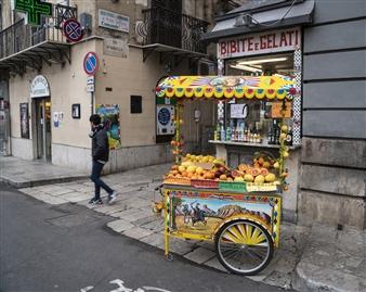 """Sicilian Fruit Cart Archival Pigment Print 8"""" x 10"""""""