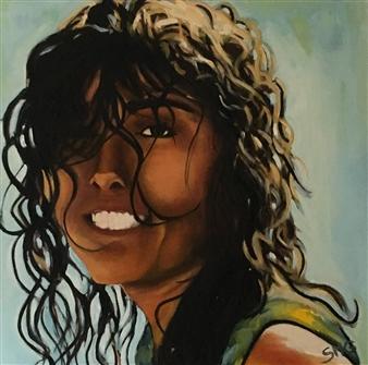 """Retrato de Laura Oil on Canvas 27.5"""" x 27.5"""""""