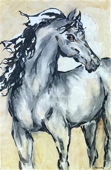 """C'est La Vie Acrylic & Charcoal on Canvas 36"""" x 24"""""""