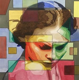 "Courage Acrylic on Canvas 27.5"" x 27.5"""