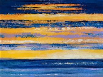 """Blazing Dusk Oil on Canvas 18"""" x 24"""""""